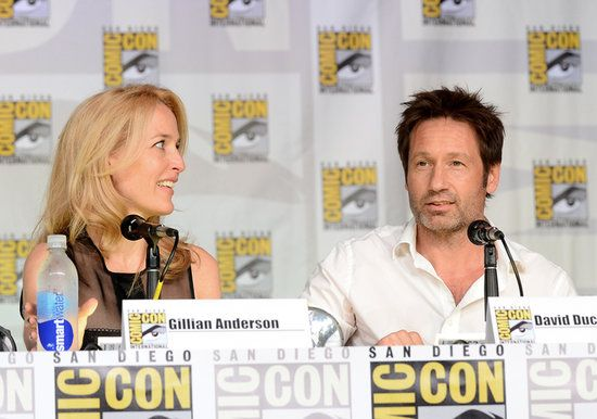 Comic-Con 2013  David and Gillian :) :) :) X-Files - what!? I can't believe I missed that