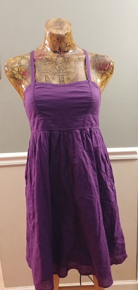 GAP Dress Sleeveless S Small Purple  #GAP #DropWaistShirtDress
