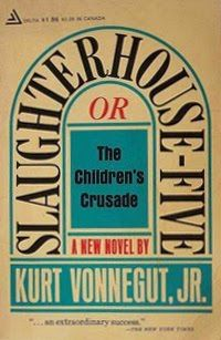 Slaughterhouse-Five. Kurt Vonnegut, 1969. The story is told in a nonlinear order and events become clear through flashbacks (or time travel experiences) from the unreliable narrator who describes the stories of Billy Pilgrim, who believes himself to have been in an alien zoo and to have experienced time travel.
