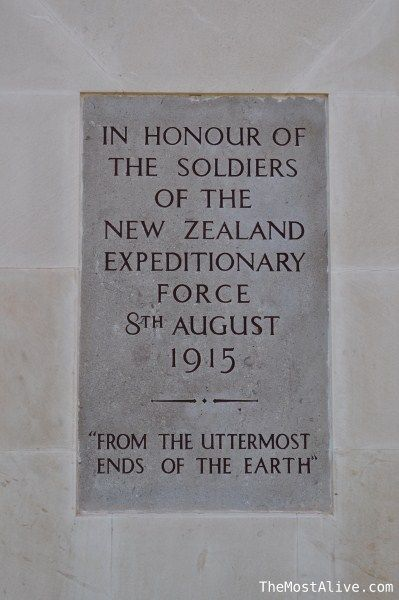 A memorial plaque at ANZAC cove, Turkey. N.Z.E.F.