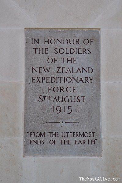 A memorial plaque at ANZAC cove, Turkey.