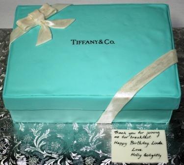 Tiffany Box Birthday Cake Holly Golightly Letter