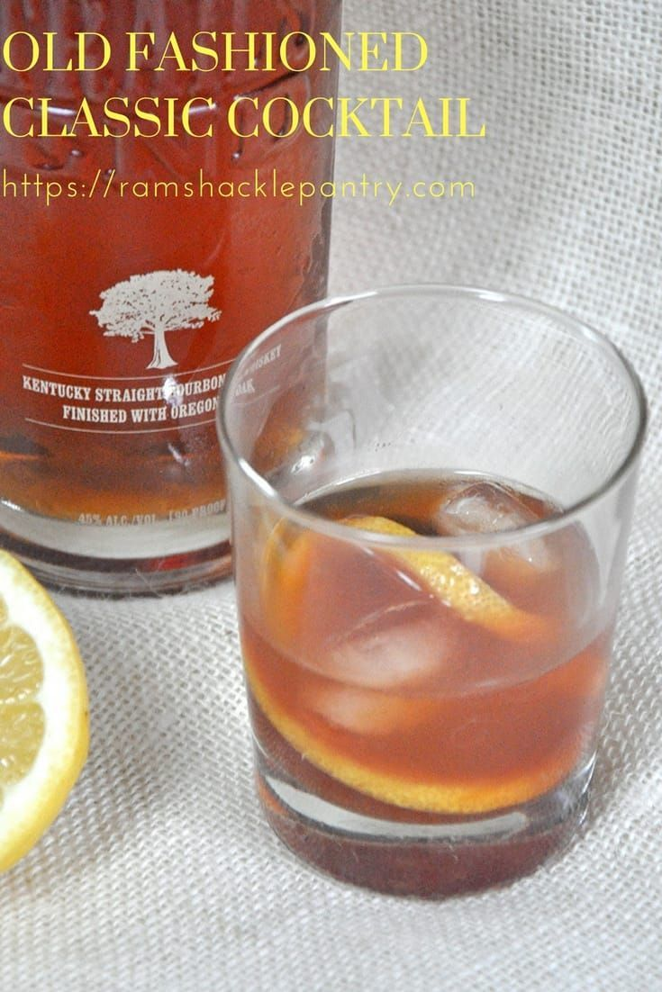 Traditional Old Fashioned Cocktail.  Ingredients:  2 oz Bourbon Whiskey Splash of water 1 tsp Sugar 4 dashes Bitters 1 Lemon Wheel 1 Luxardo Maraschino Cherry 1 or 2 large Ice Cubes