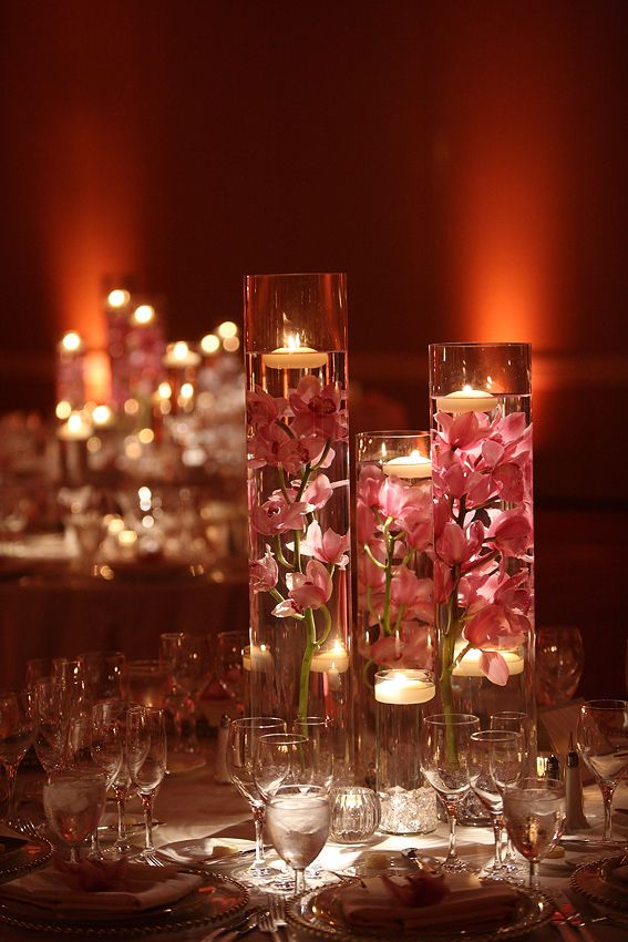 Tall Vase With Water And Flowers Centerpiece Google