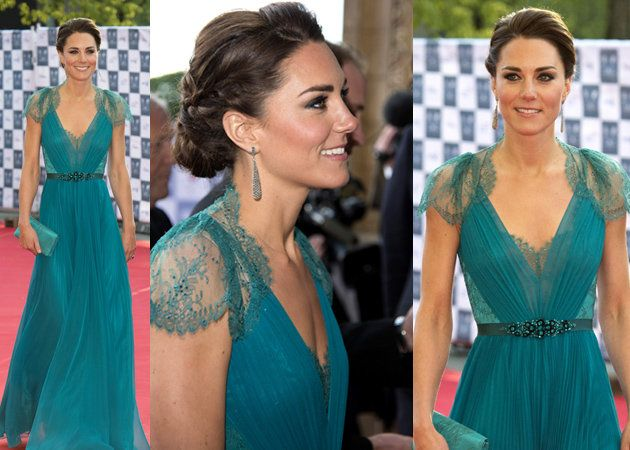 Love her dress, hair, & make-up!: Green Dres, Color, Teal Dresses, Gowns, Kate Middleton, Gorgeous Dresses, Stunning Dresses, Princesses Kate, Jenny Packham