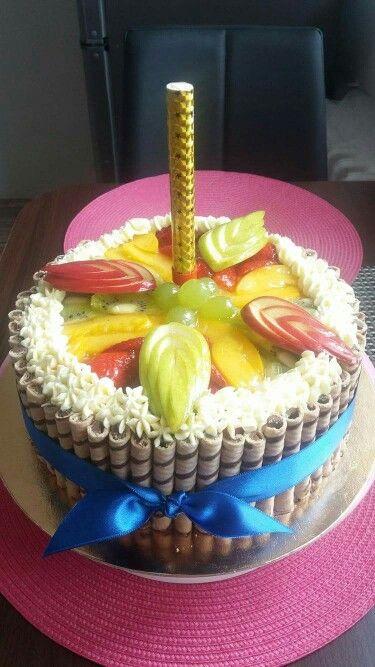 Ovocny dort s fontankou