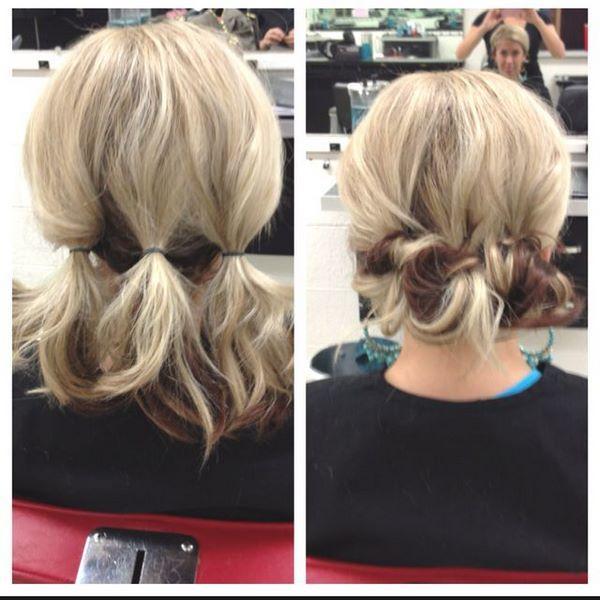 peinado cabello corto 3 trenzas