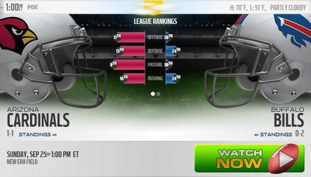 Cardinals vs Bills Live Stream