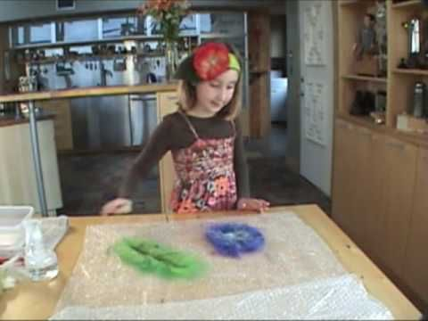 This is just about the cutest, smartest little girl I've ever seen! Great tutorial on making felted flowers