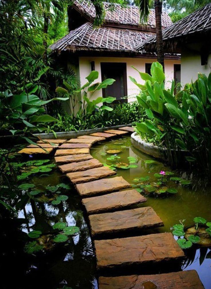 "Beautiful zen backyard with coy pond & ""floating path"""