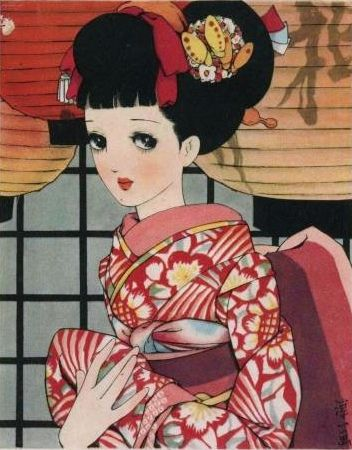 中原淳一 Junichi Nakahara  Postcard by Naomi no Kimono Asobi, via Flickr