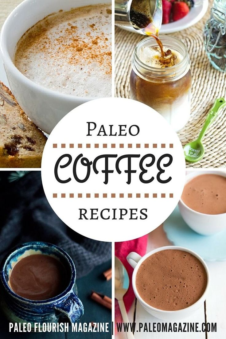 Get this entire list of Paleo coffee recipes here - including many Starbucks classics made healthier as well as bulletproof coffees.