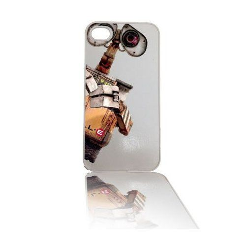 Wall-e Robot (White Background) iPhone 4 4s, iPhone 5 5s 5C, iPhone 6 6 Plus, IPOD 5G, Hardshell, Silicone, 2-in-1 Protective Case White