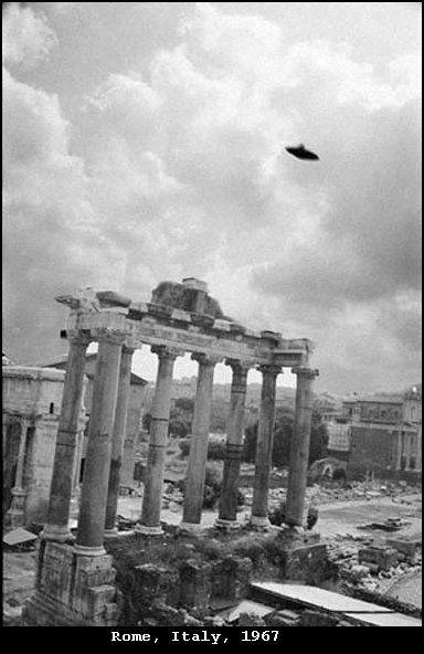 Vintage UFO photo, Rome, Italy, 1967
