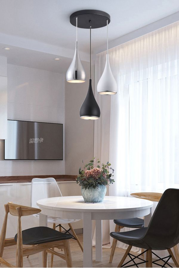 Modern Simple Pendant Lights Minimalist Led Hanging Lamp Ceiling