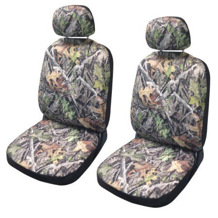 Camo Seat Cover Pair Front Row Camouflage Forest Gray Hyundai Elantra