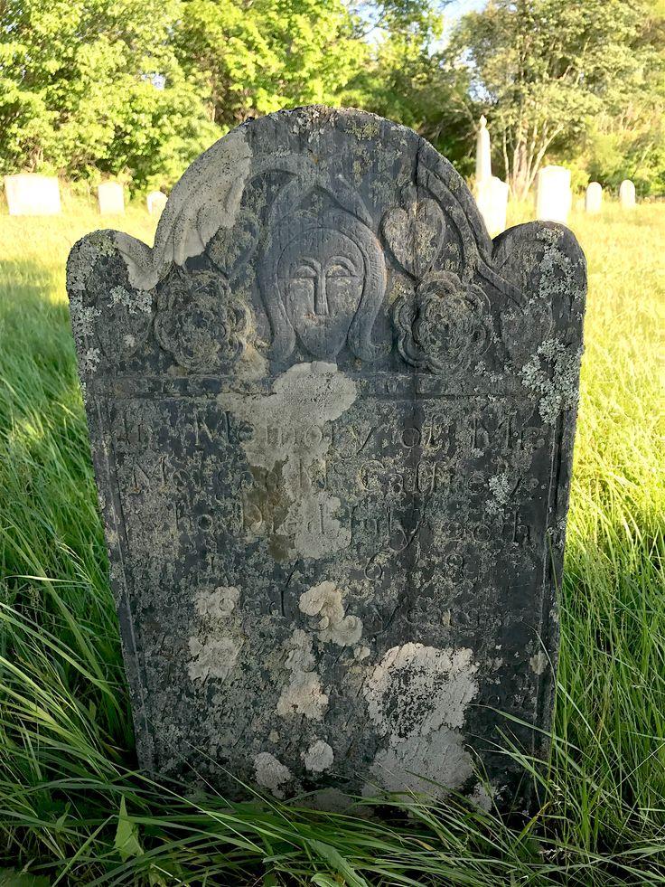 Old Burying Ground at Colonial Pemaquid near Bristol, Maine.