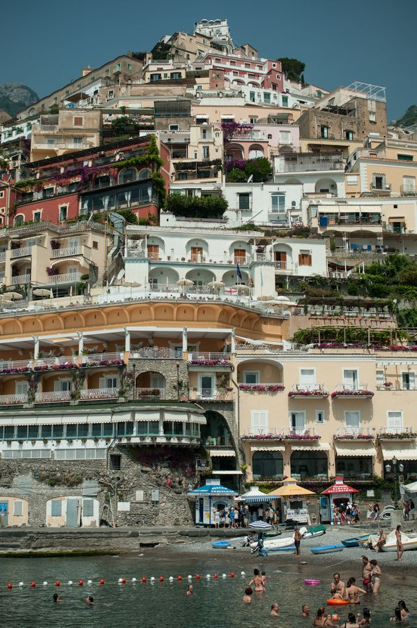 Positano, Italy - this is where we put our feet in the Mediterranean and boarded our boat