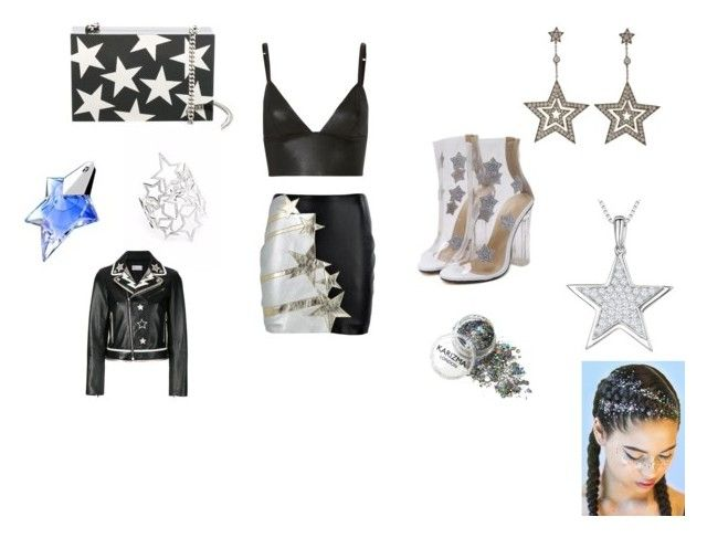 """""""Brightest Star"""" by skyelynnalexis ❤ liked on Polyvore featuring Faith Connexion, T By Alexander Wang, STELLA McCARTNEY, Jools by Jenny Brown, Tiffany & Co., Thierry Mugler and RED Valentino"""