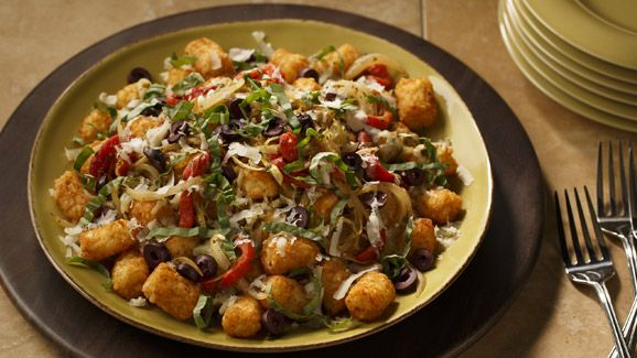 Bruschetta Totchos with ORE-IDA® Tater Tots® | Dollar General Easy Meals