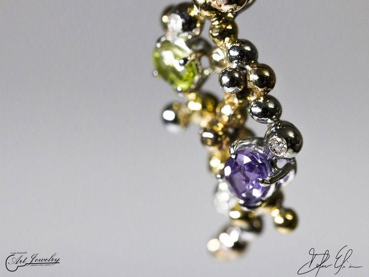 Bubble pendant.  #gold #whitegold #peridot #amethyst #diamonds https://instagram.com/costaemanuele_artjewelry/ https://www.facebook.com/gioiellicosta/