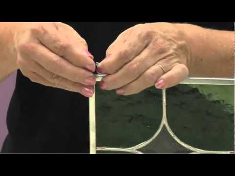Stained Glass Supplies: How to Attach Rings to a Stained Glass Panel - YouTube