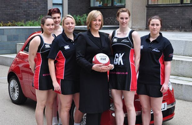 Tracey Neville with her Team Northumbria netball team 2011