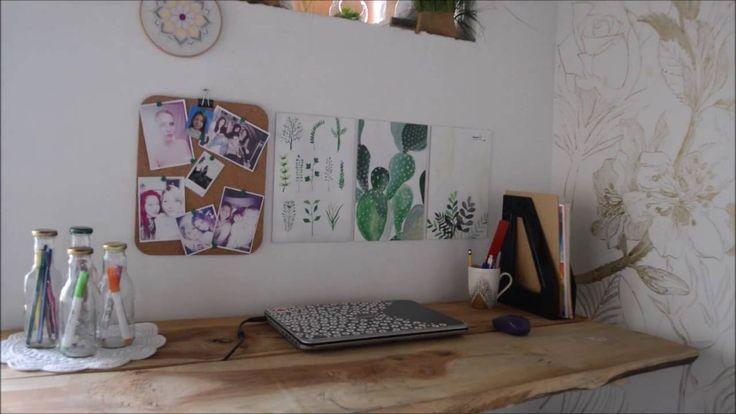 Cuadritos decorativos con plantas pintadas