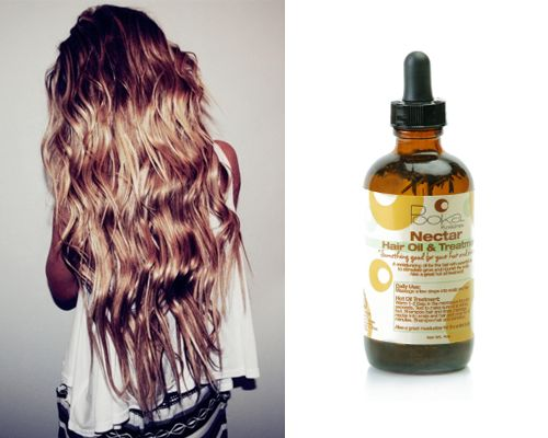 Pooka Pure & Simple Nectar Hail Oil ($14) at Wholefoods: slather it on, wraphair in a braided bun, and sleep with it. This contains lavender, peppermint and lemon oils - so it smells amazing while it's deep-treating your scalp and hair.