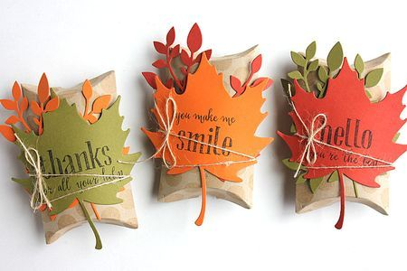 Autumn Pillow Boxes by Heather Nichols for Papertrey Ink (August 2015)