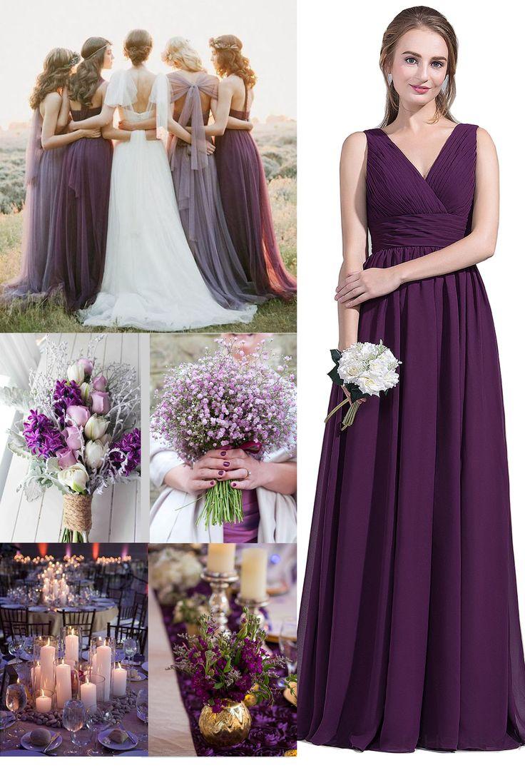 Grape Bridesmaid Dresses Simple But Elegant Jjshouse