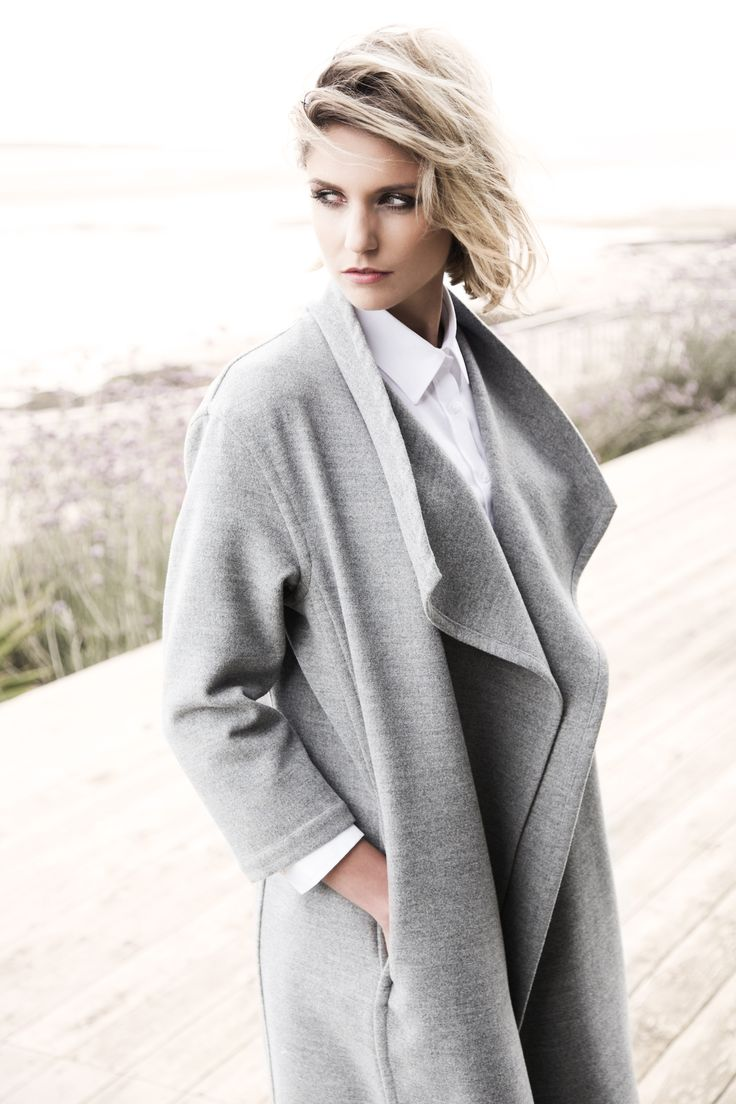 Draped grey coat by Carolyn Donnelly The Edit