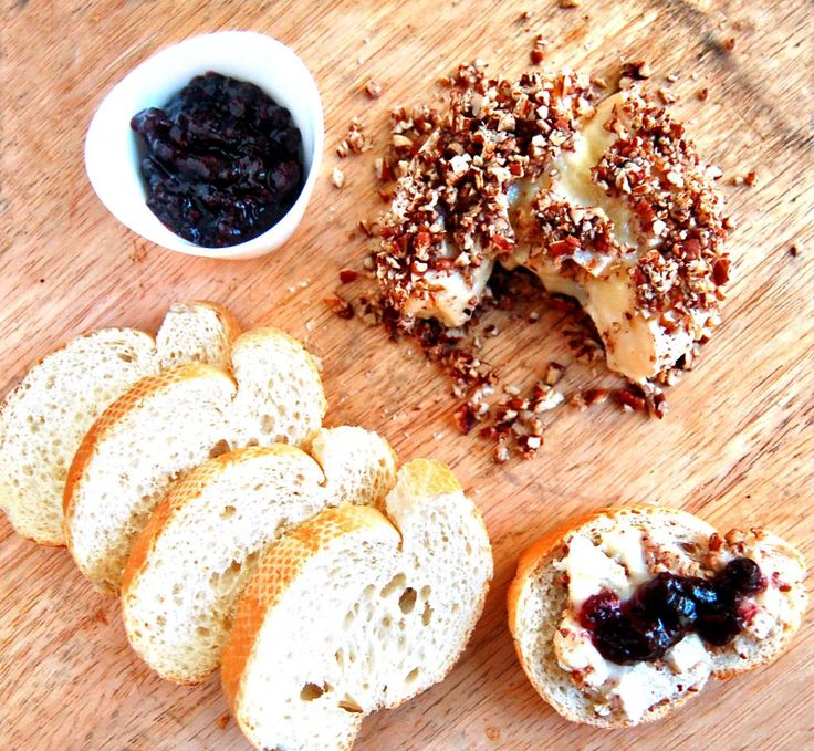 Pecan Crusted Brie with Saskatoon Berry Jam