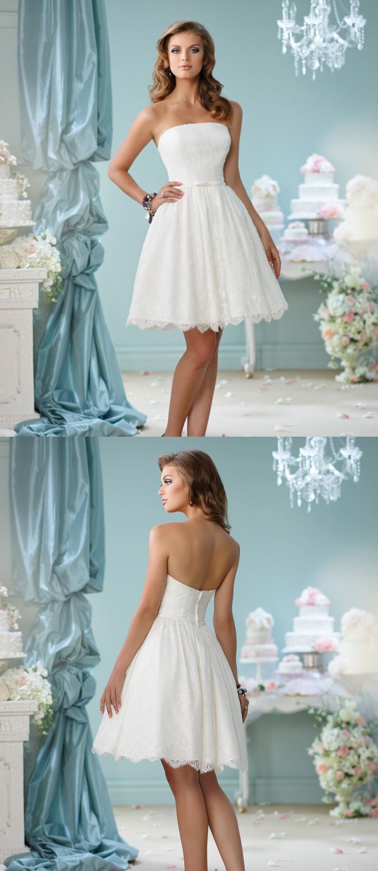 40 best short wedding dresses images on Pinterest | Short wedding ...