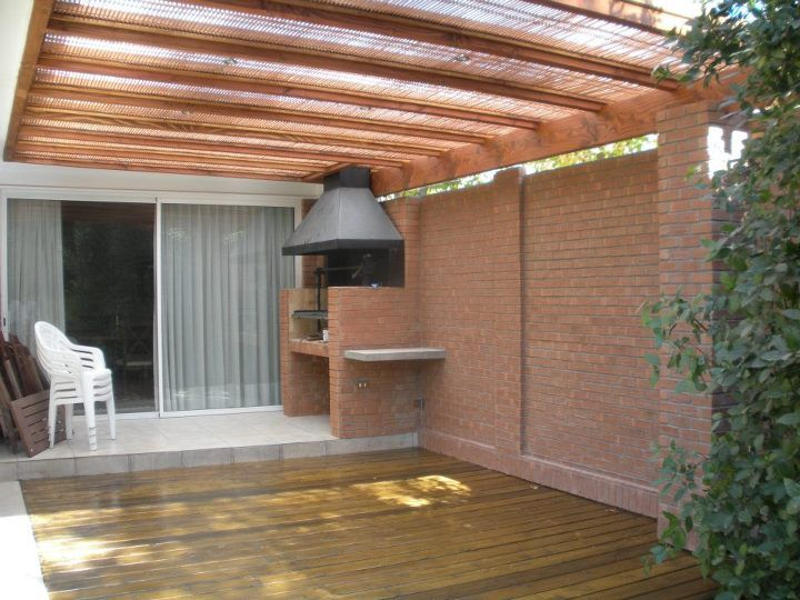 17 best images about parrillera on pinterest outdoor for Techos de madera para patios