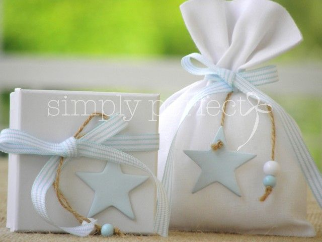 Light blue star. It's a boy!