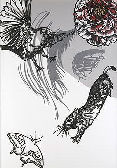 Risa Fukui: The Darkness Of Graphical Papercut Reflections | PingMag : Art, Design, Life – from Japan