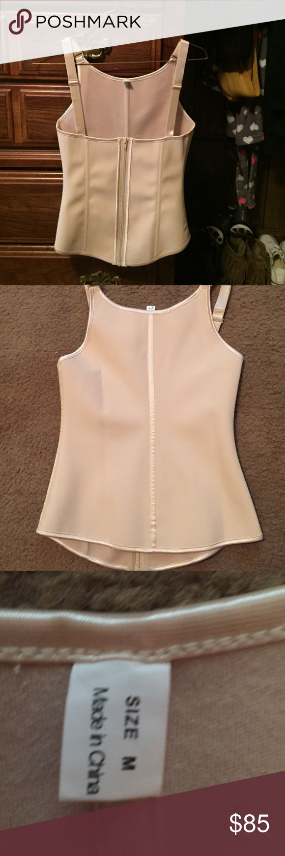 waistshaperz Medium nude zip up waist shaper never been worn. I purchased this through waistshaperz but was too small. Intimates & Sleepwear Shapewear