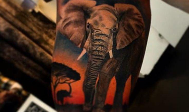 African American Tattoos - Elephant