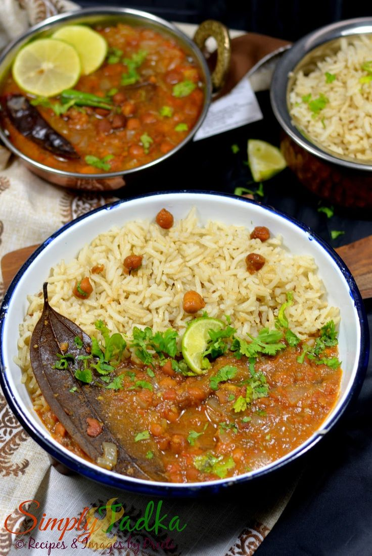 black chickpeas curry and jeera brown rice punjabi cuisine http www