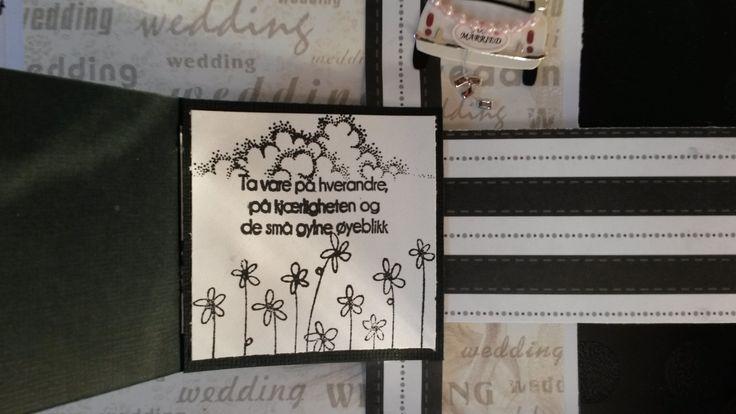 """Bryllupskort - et av korta i """"Waterfallen"""""""