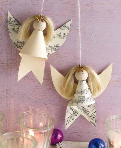 Musikalische Engel aus Papier, aus unserem Buch 'Zauberhafte Papierengel': http://www.topp-kreativ.de/zauberhafte-papierengel-4057.html