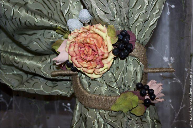 """Купить Заколка-подхват для штор """"Осенняя фантазия"""" - разноцветный, предмет интерьера, подхват для штор"""