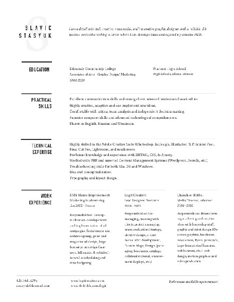 36 best CV \/ Resume images on Pinterest Advertising, Cleanses - styles of resumes