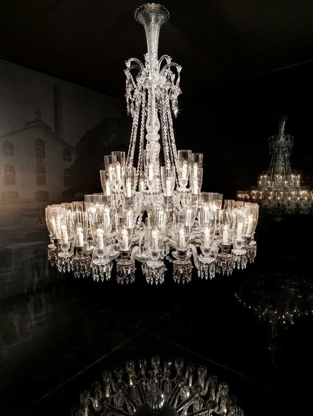 the zenith 48 lights by baccarat chandeliers collection pinterest chandeliers lights and luxury baccarat zenith arm black crystal chandelier