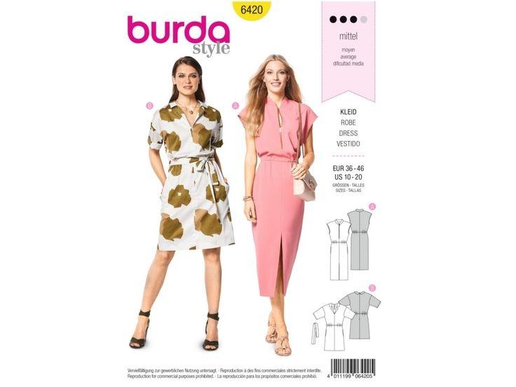 Sewing pattern dress, Burda 6420   tissus-hemmers.fr