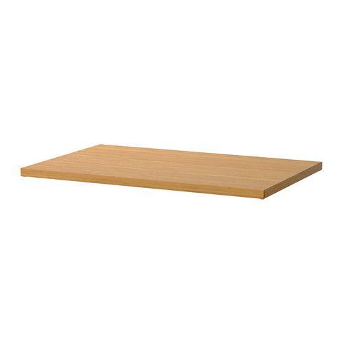 IKEA - ELVARLI, Plank, 80x51 cm, , Omdat je de plank alleen hoeft vast te klikken, is deze eenvoudig te monteren en te verplaatsen.Bamboe is een slijtvast materiaal dat een gezellige uitstraling heeft en een mooi contrast vormt met het witte basiselement van aluminium.