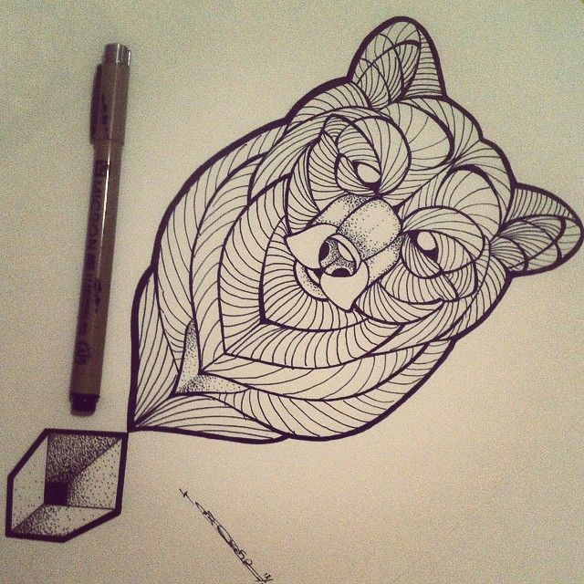 ... Bear on Pinterest | Geometric bear tattoo Polar bear tattoo and