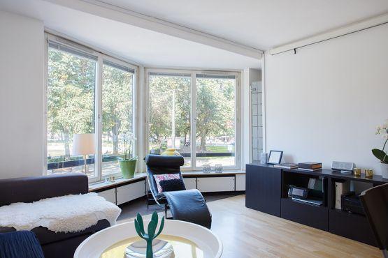 37 m², cocina con península y walk-in-closet diseño pisos pequeño...