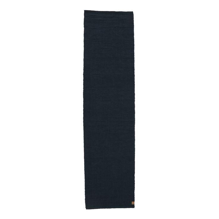 Ribbon Teppe Jute, 75x300 cm, Mørk Blå - Mette Ditmer - Mette Ditmer - RoyalDesign.no